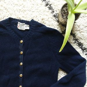 Vintage Navy wool cardigan